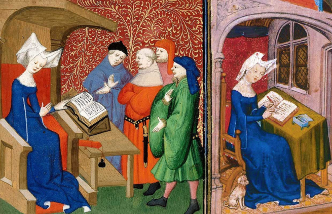 Illustrations-of-Christine-de-Pisan-in-her-study-from-the-manuscript-of-The-book-of-the.jpg